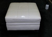 Leather Ottoman Pet Damage 1 carpet cleaning lincoln